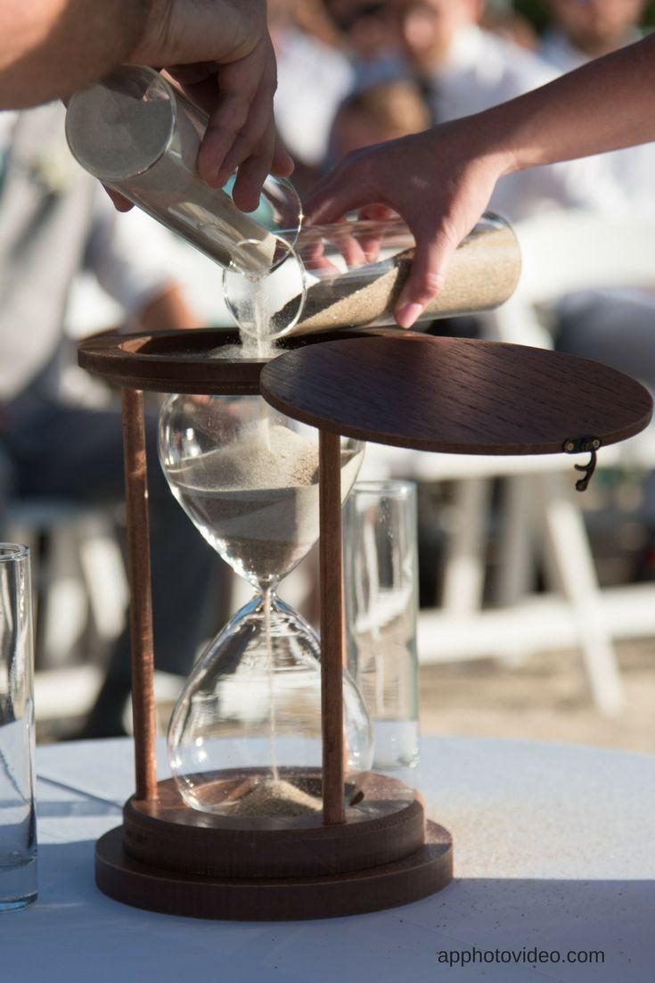 Our Bride Chose A Decorative Hourglass As A Keepsake For Their Sand - Decorative-hourglass