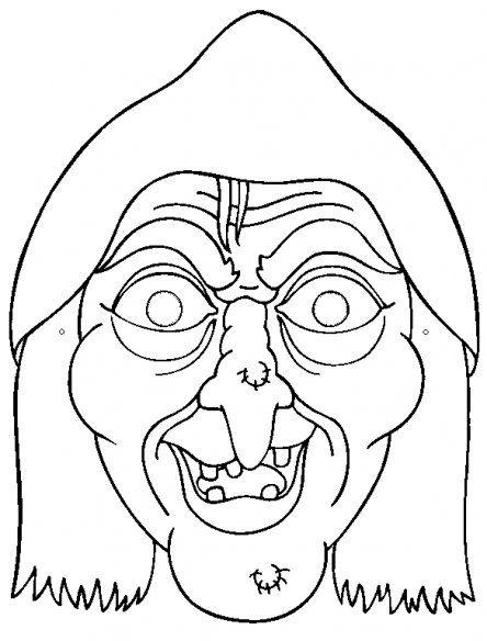 masker heks maskers tekeningen