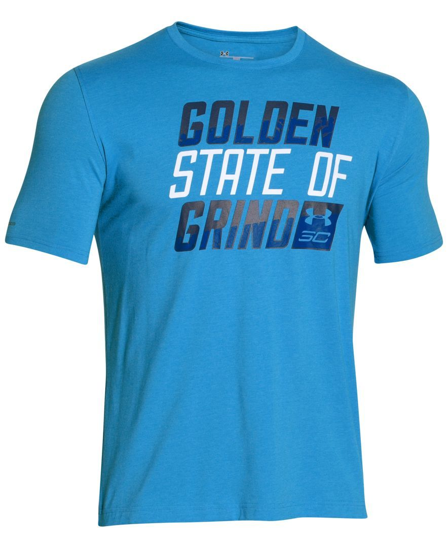 best service c160f 88111 Under Armour helps you reach Stephen Curry s Golden State of Grind every day  with this performance T-shirt.   Cotton polyester elastane   Machine  washable ...