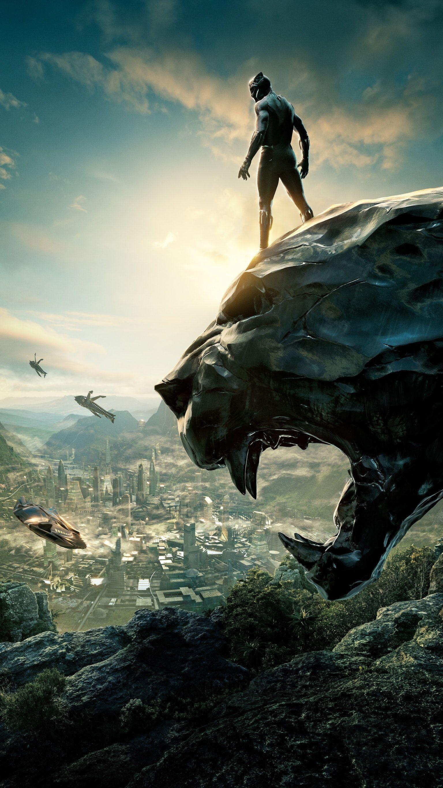 Black Panther (2018) Phone Wallpaper Black panther movie