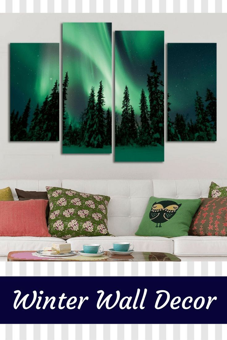Winter wall decor is not only an amazing way to spruce up your home