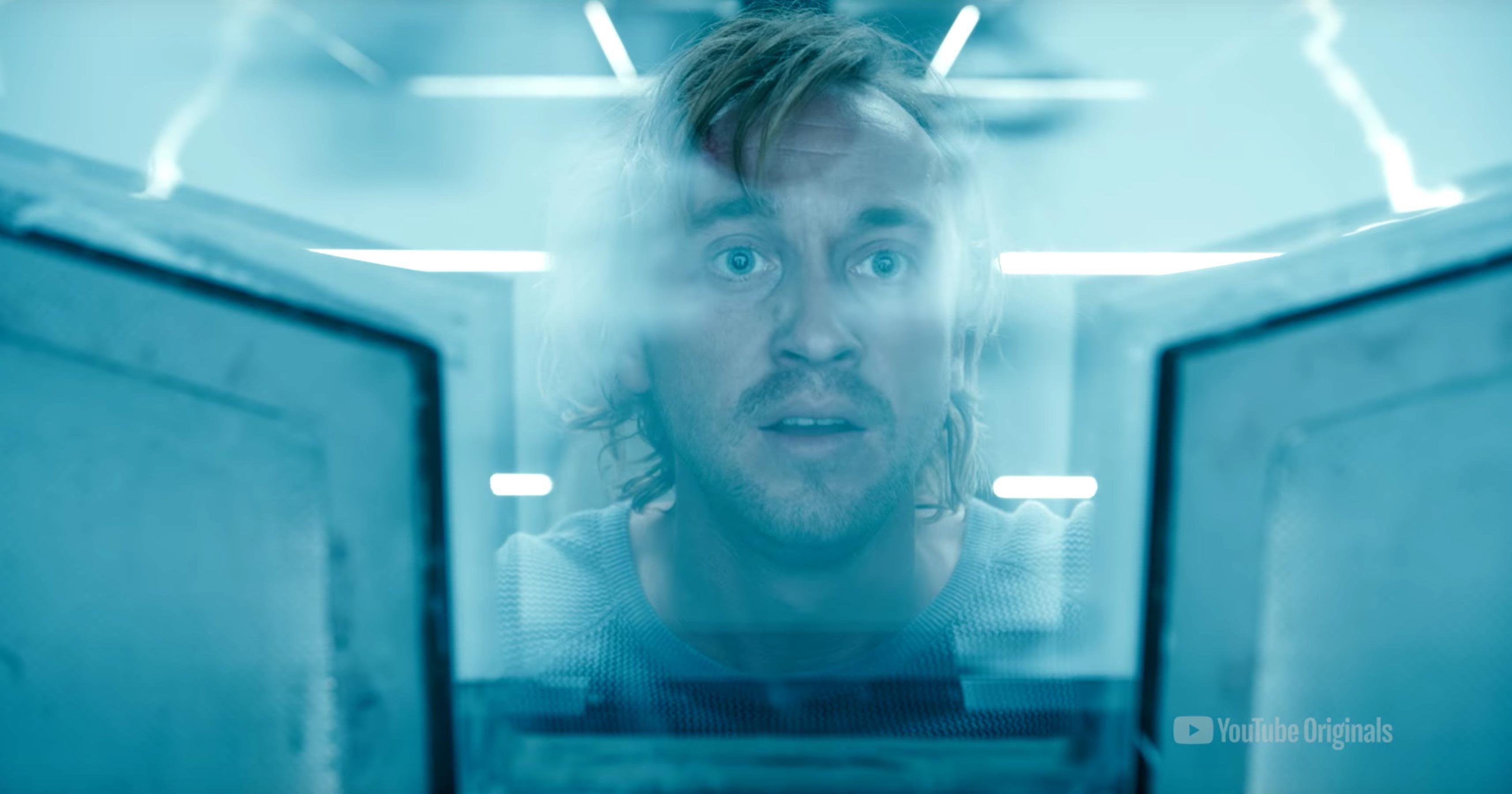 Harry Potters Tom Felton Endures Space Horrors In Youtubes Originseries Trailer Tom Felton The Originals Felton