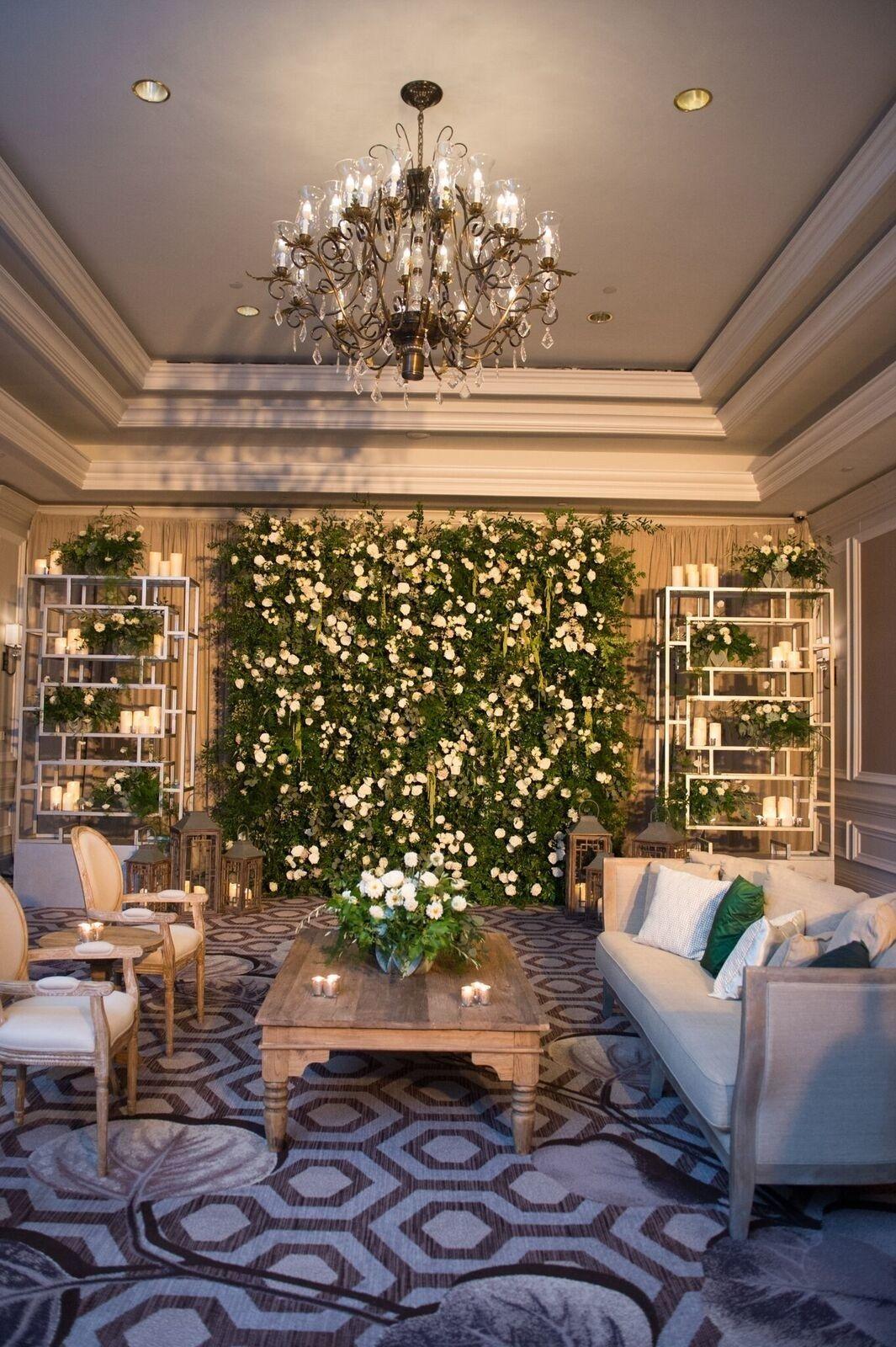 Wedding room decoration ideas   Stunning Wedding Flower Wall Ideas  Brides  Wedding Inspiration