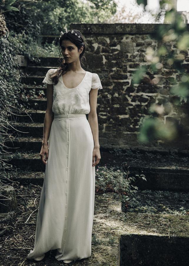 robe de mariée : esprit bucolique chez laure de sagazan   novias