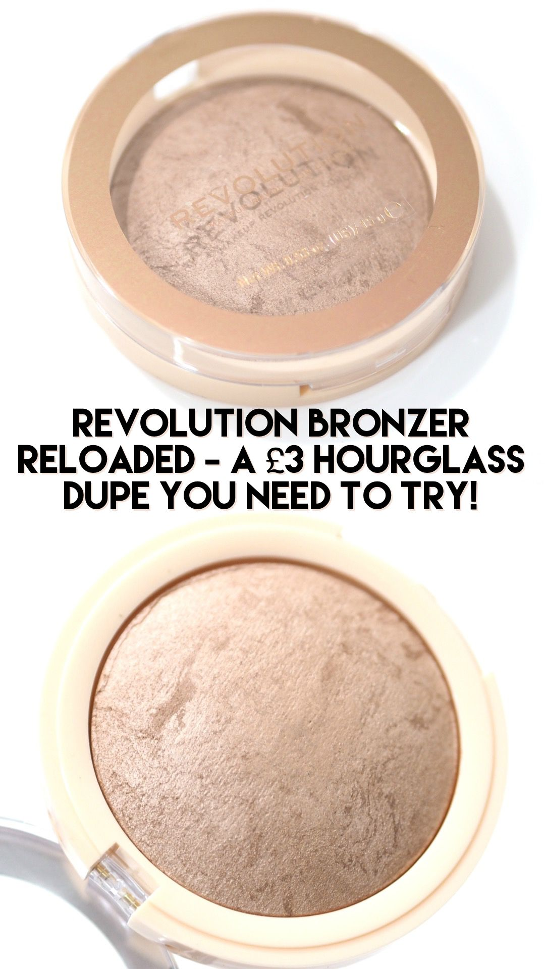 Revolution Bronzer Reloaded Hourglass Dupe?! Review
