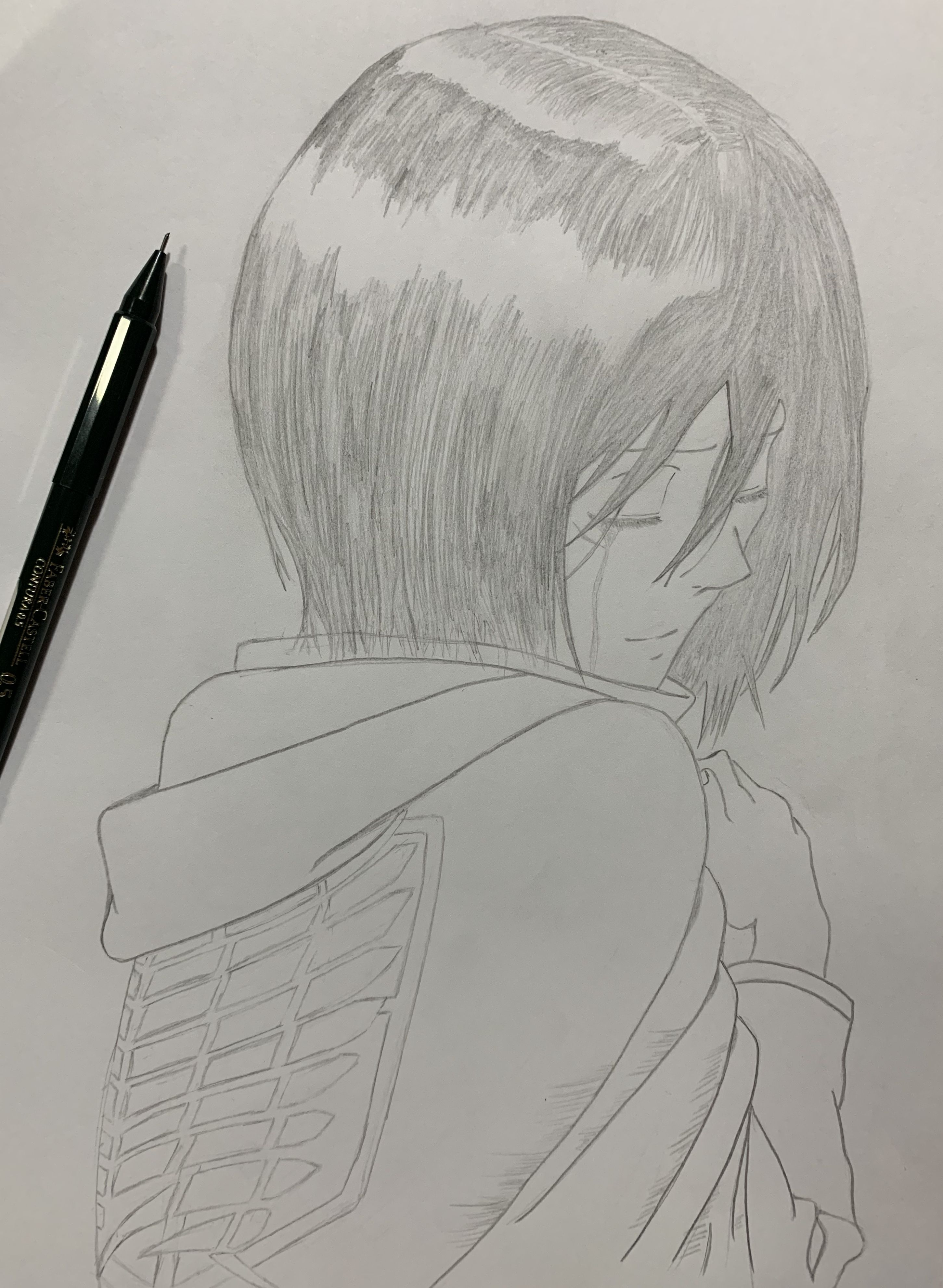 Mikasa from Attack on Titan Anime drawing pencil