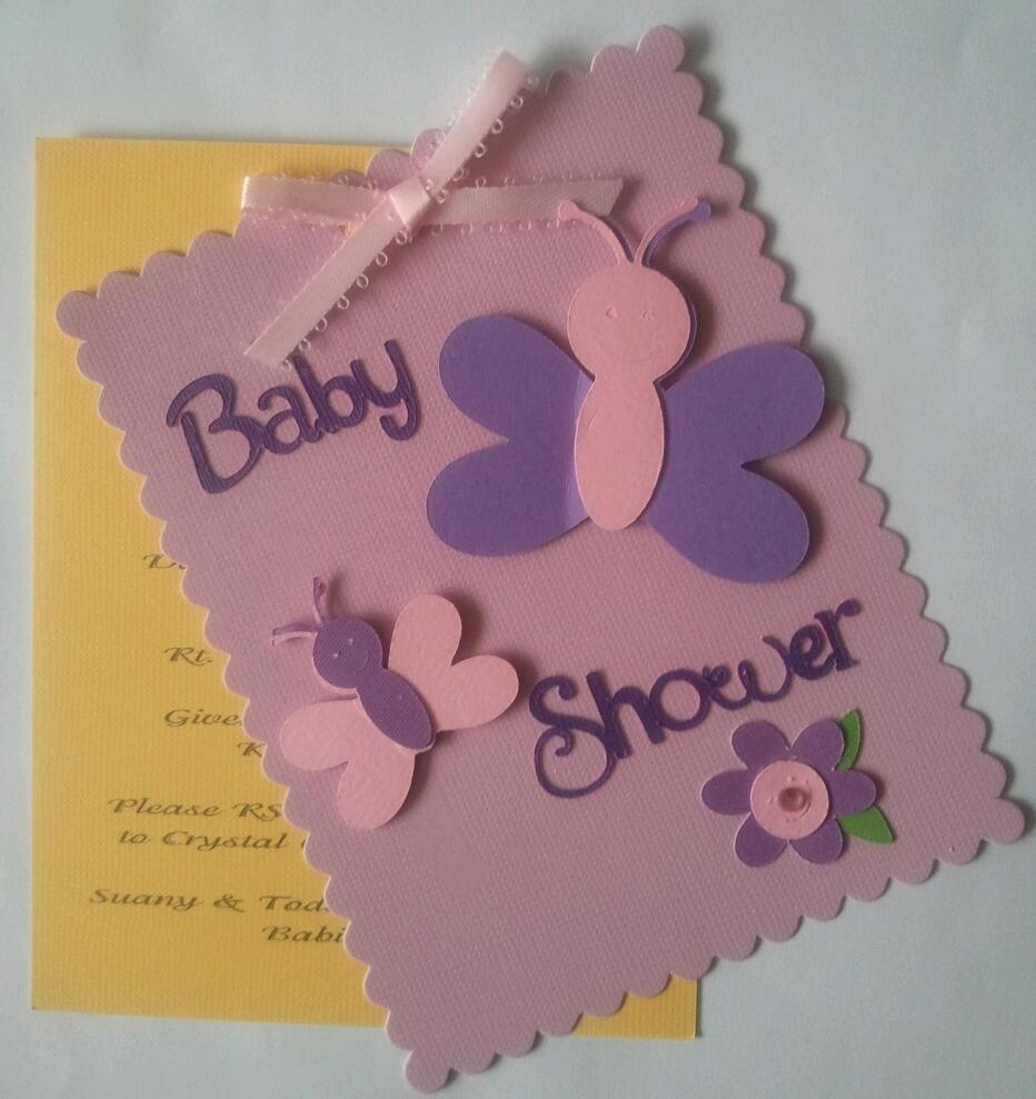 Butterfly Baby Shower Invitation | My Handmade Greeting Cards ...