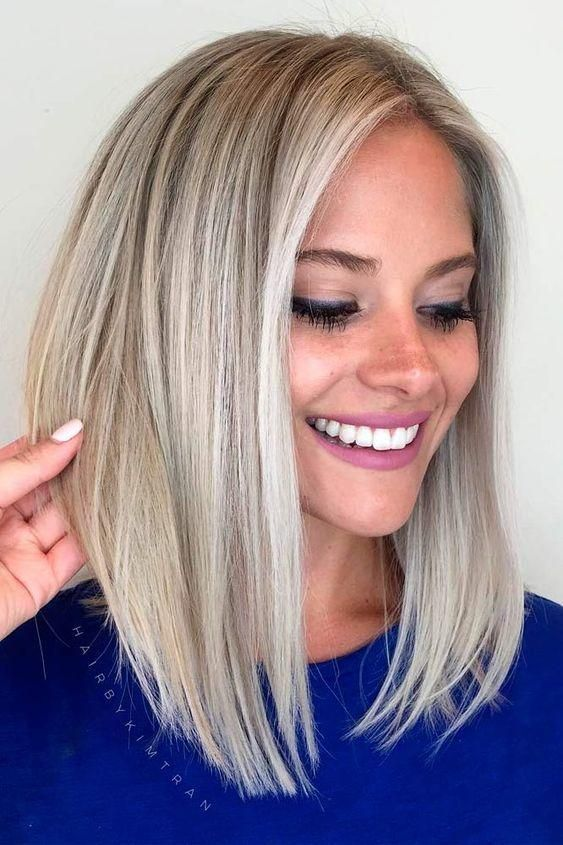 23+ Best Medium Length Straight Hair for Women in 2019 - Page 5 of 26 - Hair Trends Website