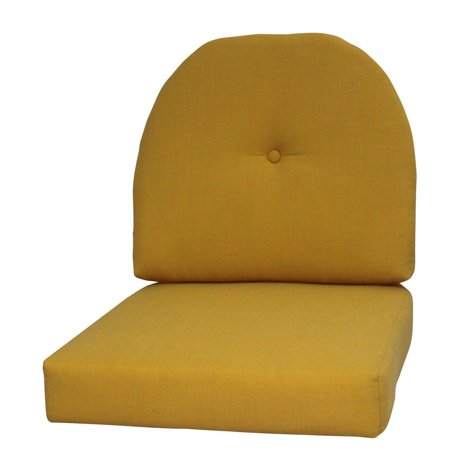 FiberBuilt Paradise Cushions Sunbrella Wicker Chair Seat