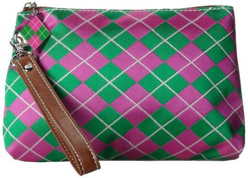 Sydney Love Argyle Wristlet Cosmetic CasePinkGreenOne Size * Click image to review more details.