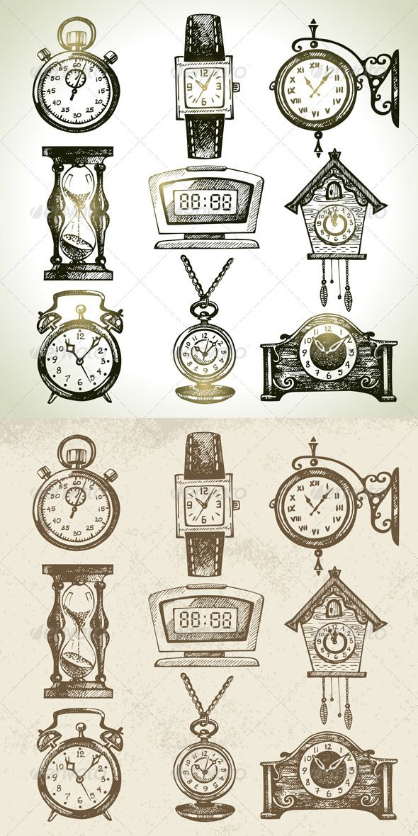 Clock And Watch Set Libros De Arte