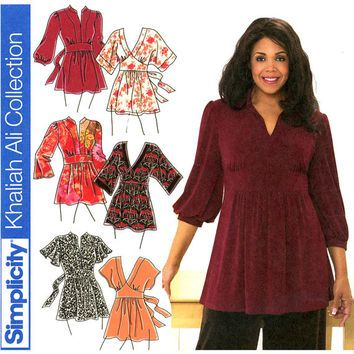 Plus Size Tunics Pattern Uncut Bust 48 - 54 Simplicity 3697 ...