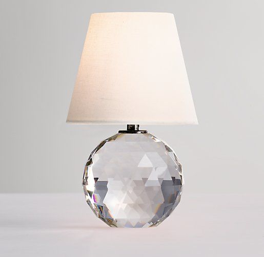 Mini Lourdes Crystal Ball Lamp With Shade | twinkle | Pinterest ...