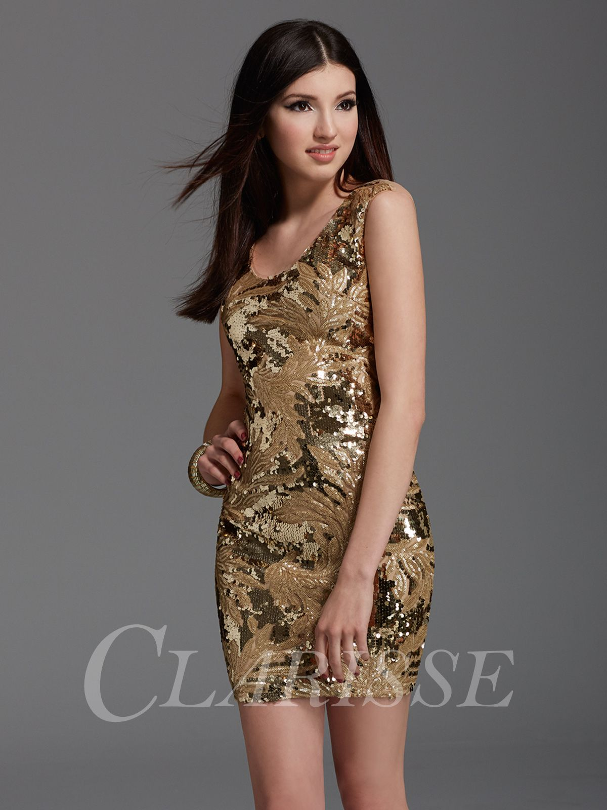 Zizi Gold Sequin Homecoming Dress 361 | Gold sequin shorts ...