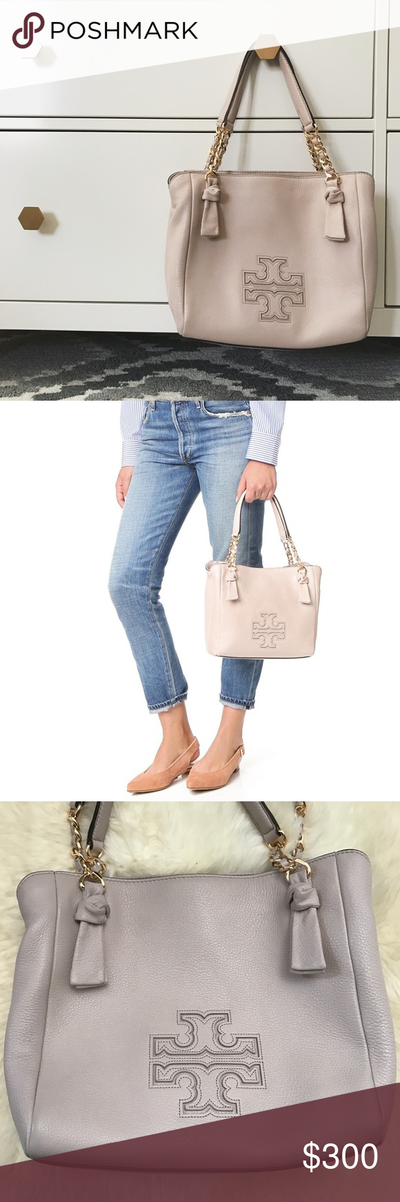 dbb9f069f9 Tory Burch Bedrock Blush Harper Small Satchel •Easy slouch meets the  refined details of chain and ribbon: Our Harper Small Satchel is made of  supple pebbled ...