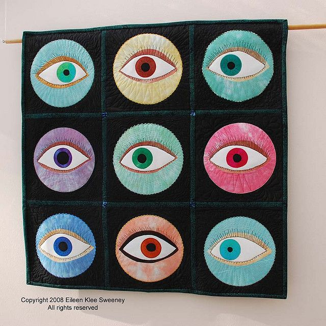 An Eye for an Eye by artful quilter, via Flickr