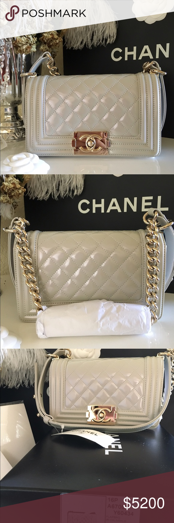 CHANEL Patent Leather Boy Bag Brand  Chanel Style  Boy Bag Type  Crossbody  Shoulder af2e484f79230