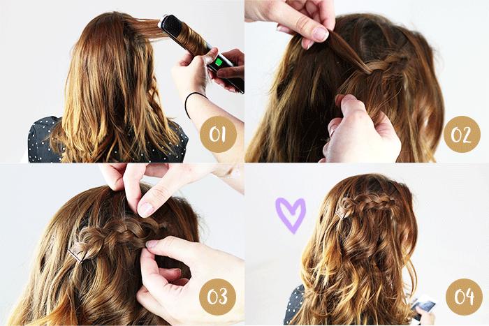 Tuto coiffure : 3 coiffures faciles pour les cheveux mi-longs | Coiffure facile, Coiffure facile ...