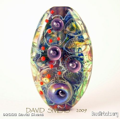 david sivers beautiful lampwork bead