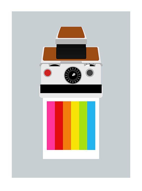 Polaroid poster print retro photography eames SX70 Mid by yumalum, $29.00