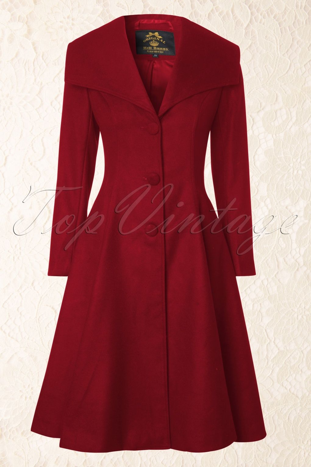 50s Coleen Swing Coat in Burgundy | Rote mäntel, Vertikal und Stiche