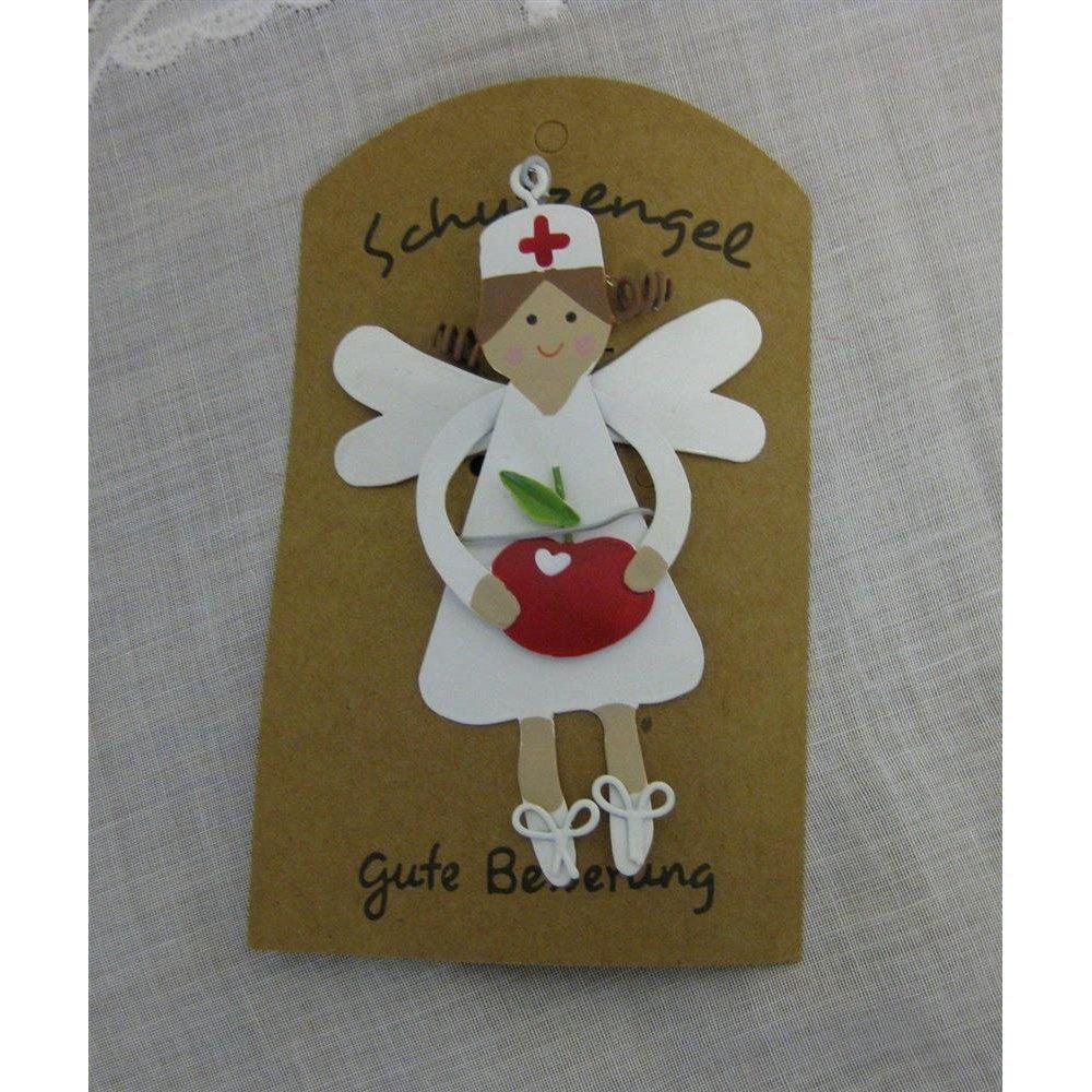 Anhanger Schutzengel Fur Kranke Mit Apfel Herz Obst Gute Besserung