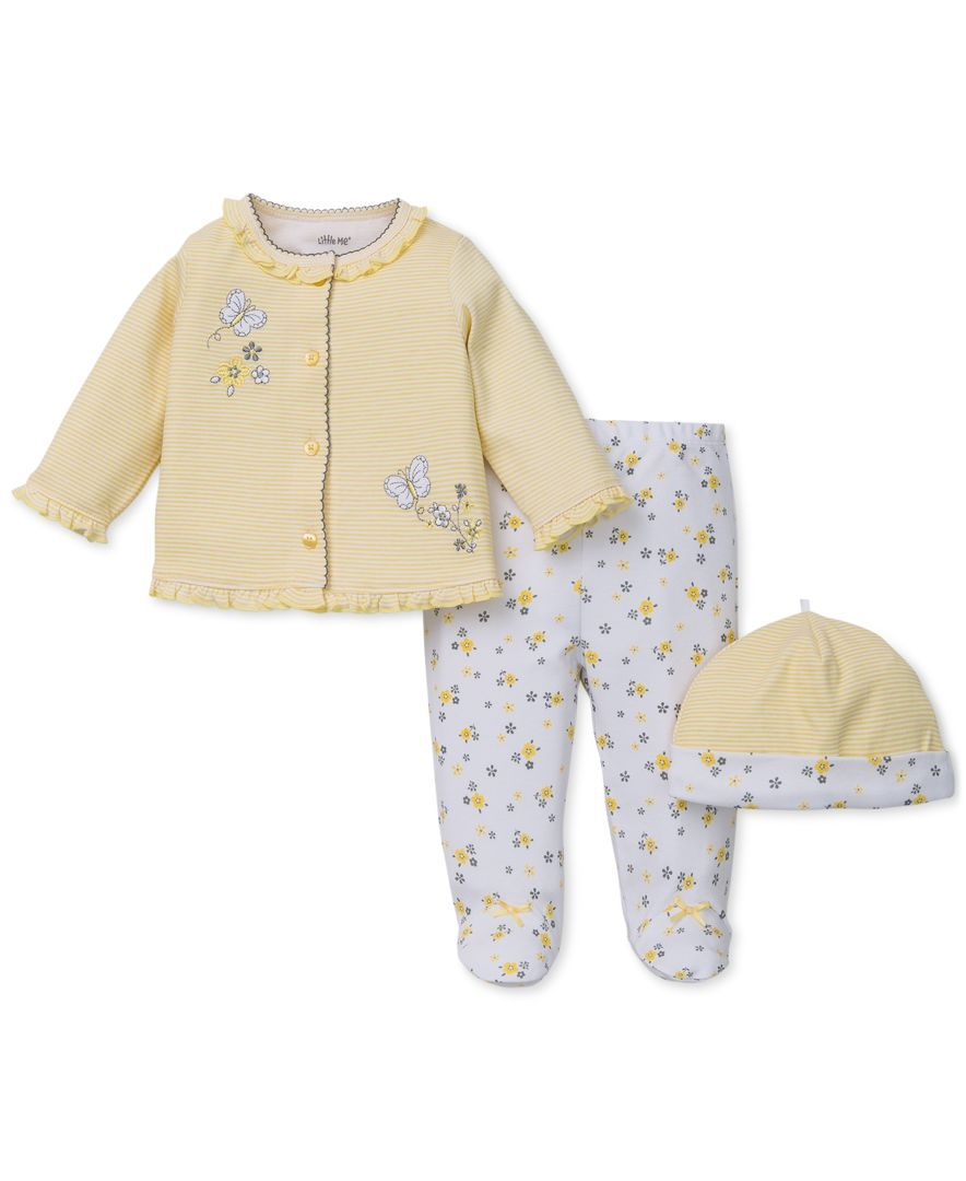 29b76f570 Little Me Baby Girls  3-Piece Butterfly Take Me Home Set