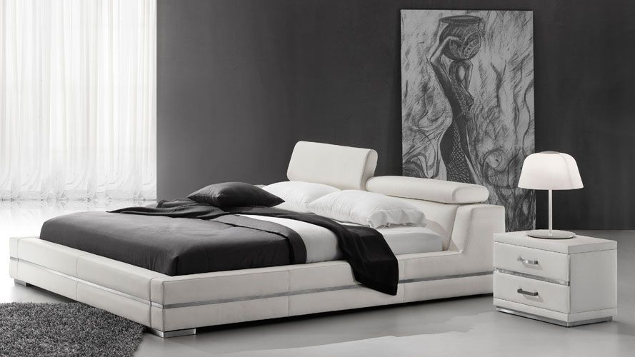 Hera Leather Bed White Bedroom Collection Leather