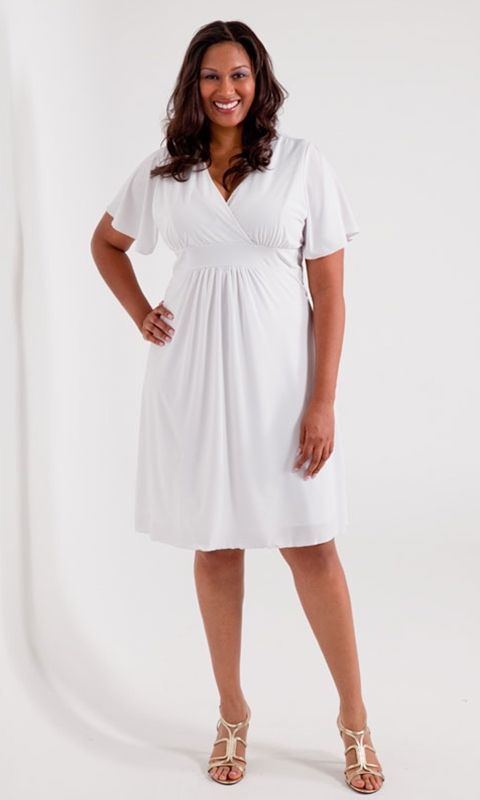 Classic V-Neck Dress | Plus size dresses, Sleeve and Fabulous dresses