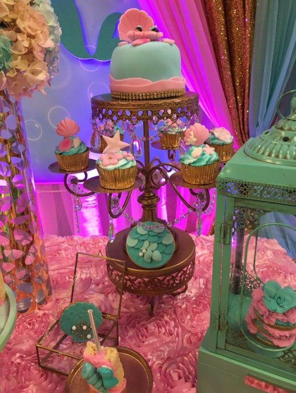 Mythical Mermaid Baby Shower Minicake