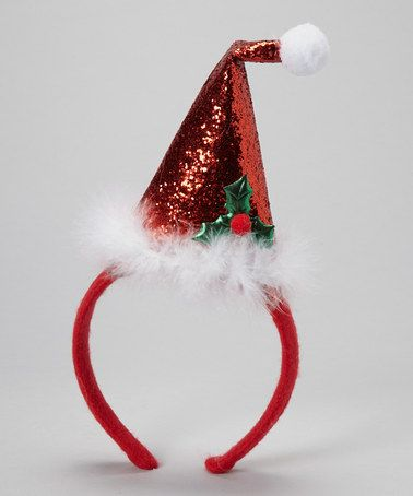 CHRISTMAS SANTA HATS RED PLUSH OR FELT WITH PIGTAILS PARTY CELEBRATION HATS NEW