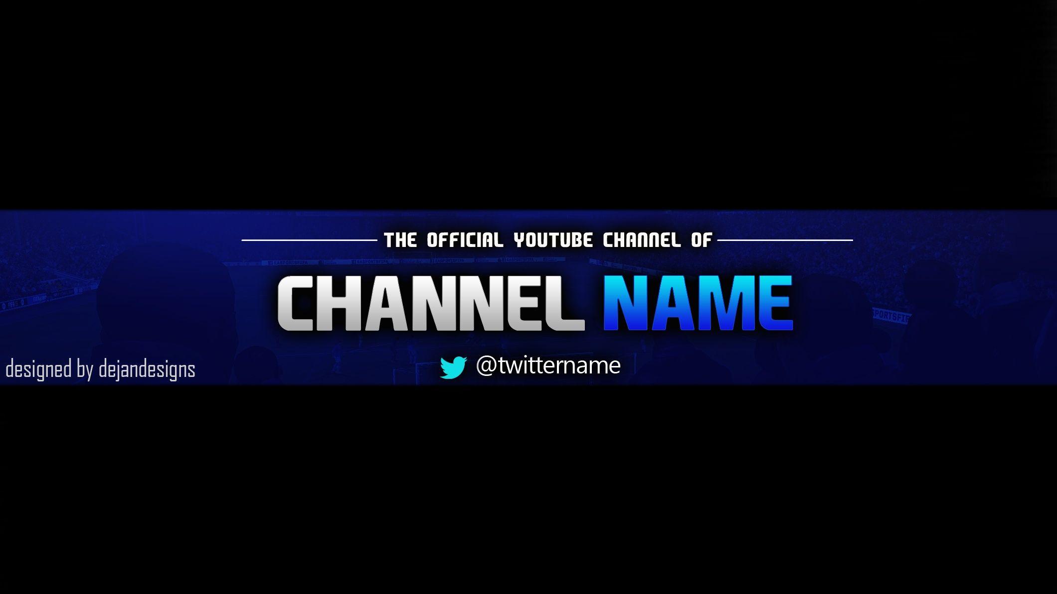 2560x1440 Channel Art Template