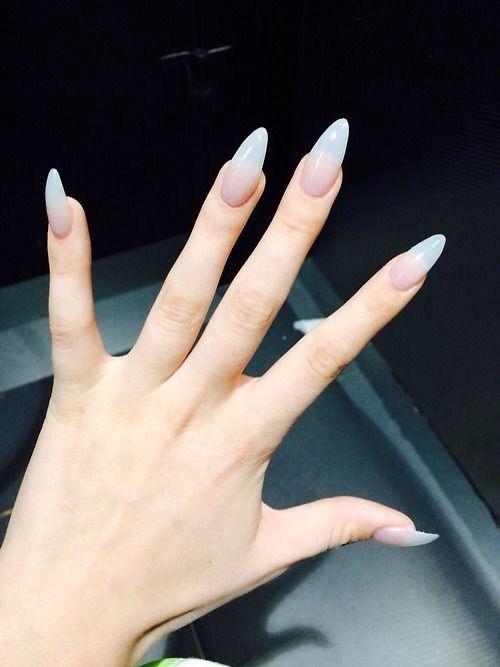 Pinterest : g00dvxbes ☻ | Transparent nails, Almond ...