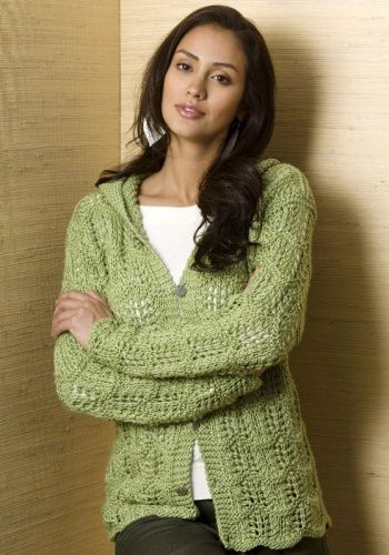 Free Knitting Patterns Ladies : Free Knitting Pattern - Womens Cardigans: Serenity Cardi Knitting Pi...