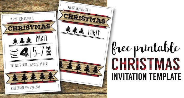 Pin by Mel Baker on H Christmas, Christmas party invitations