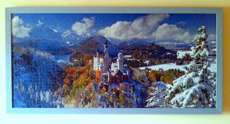 Neuschwanstein Castle Ravensburger Puzzle 2000 Pieces Framed