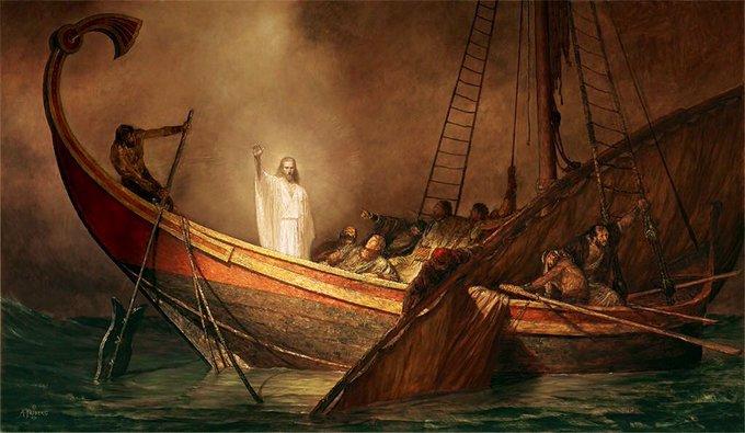2 Home Twitter Jesús Calma La Tormenta Cuadros De Cristo La Tempestad Calmada