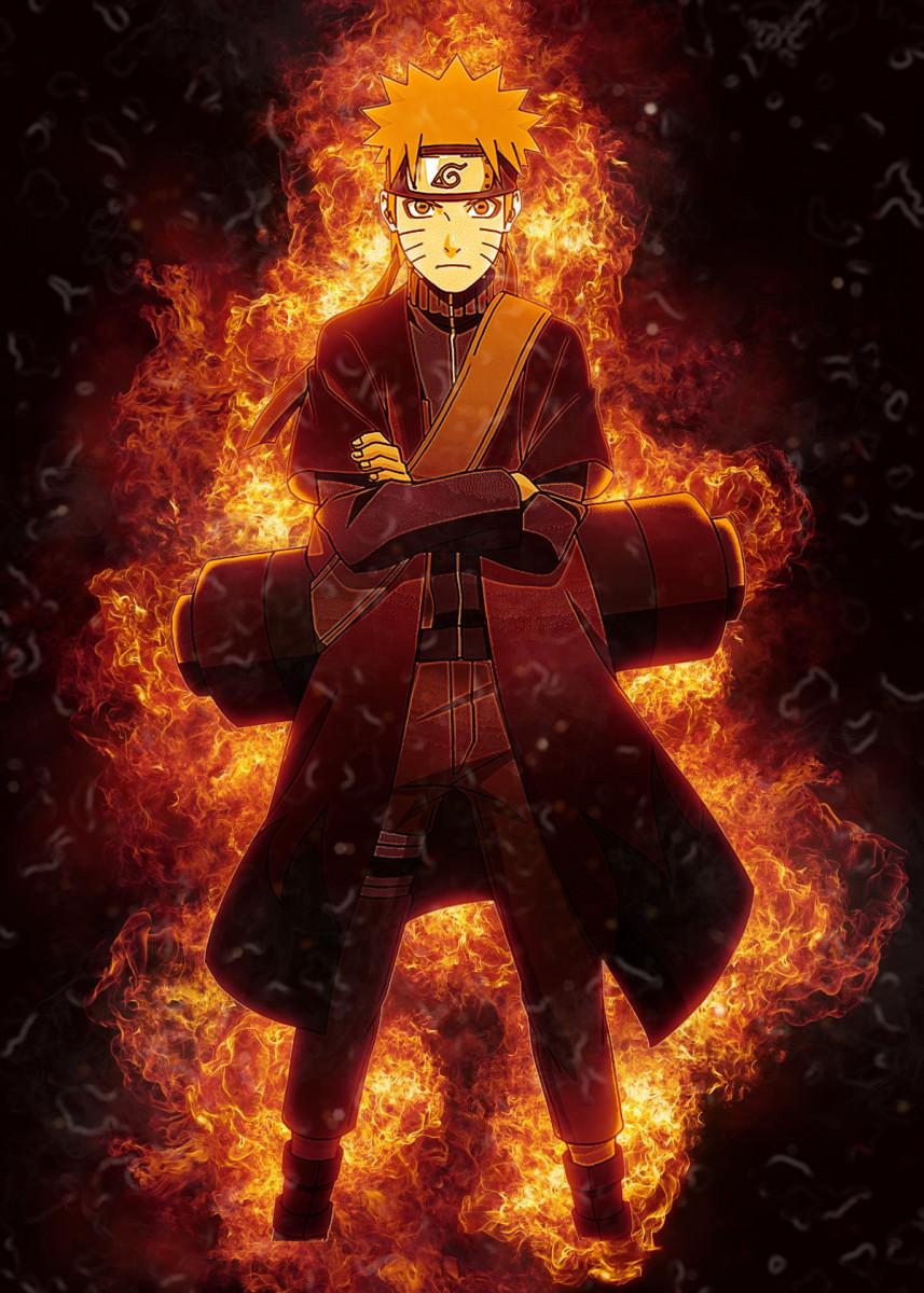 Naruto Metal Poster Rodriquez Mccarthy Displate Naruto Shuppuden Naruto Uzumaki Art Naruto Uzumaki