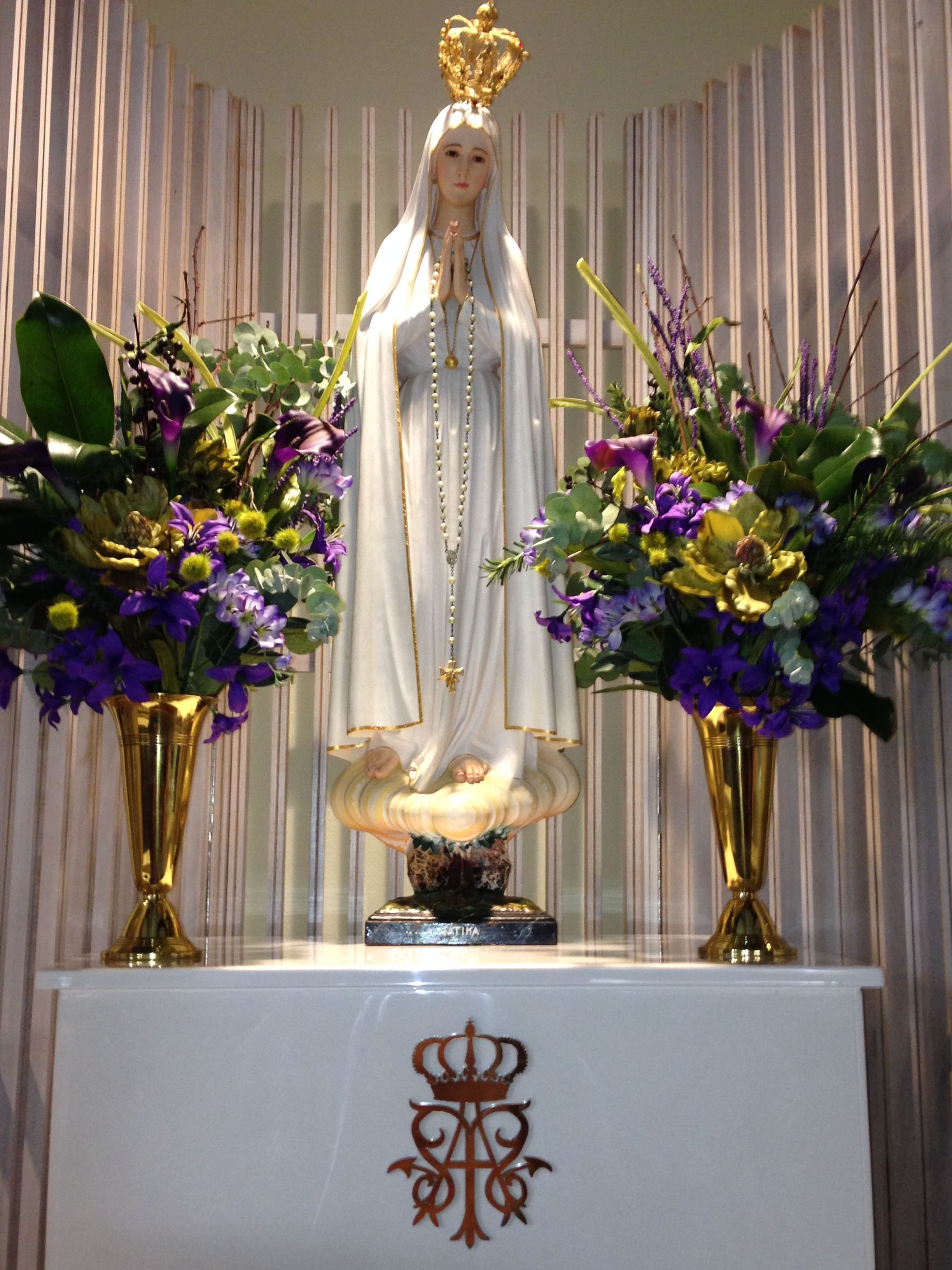 Advent Flowers At The Blessed Virgin Mary Our Lady Of Fatima Thank