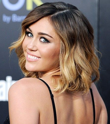 Miley Cyrus Srt Ombre Hair @Samantha Moberg something along ...