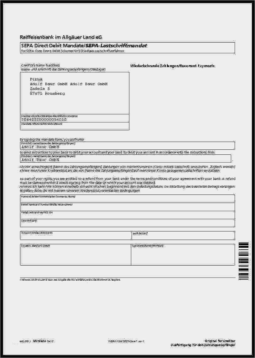 Sepa Lastschriftmandat Muster Fill Online 12
