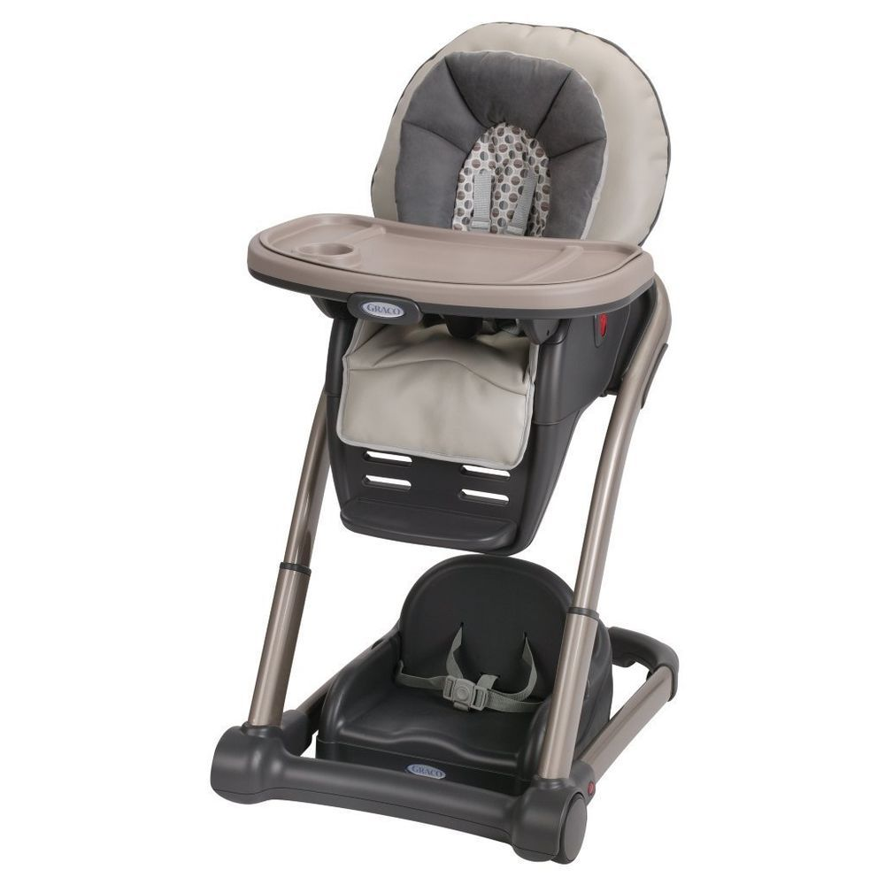 Graco High Chair 4 In 1 Black Baby Seat Feeding Table Toddler Portable Highchair Brand