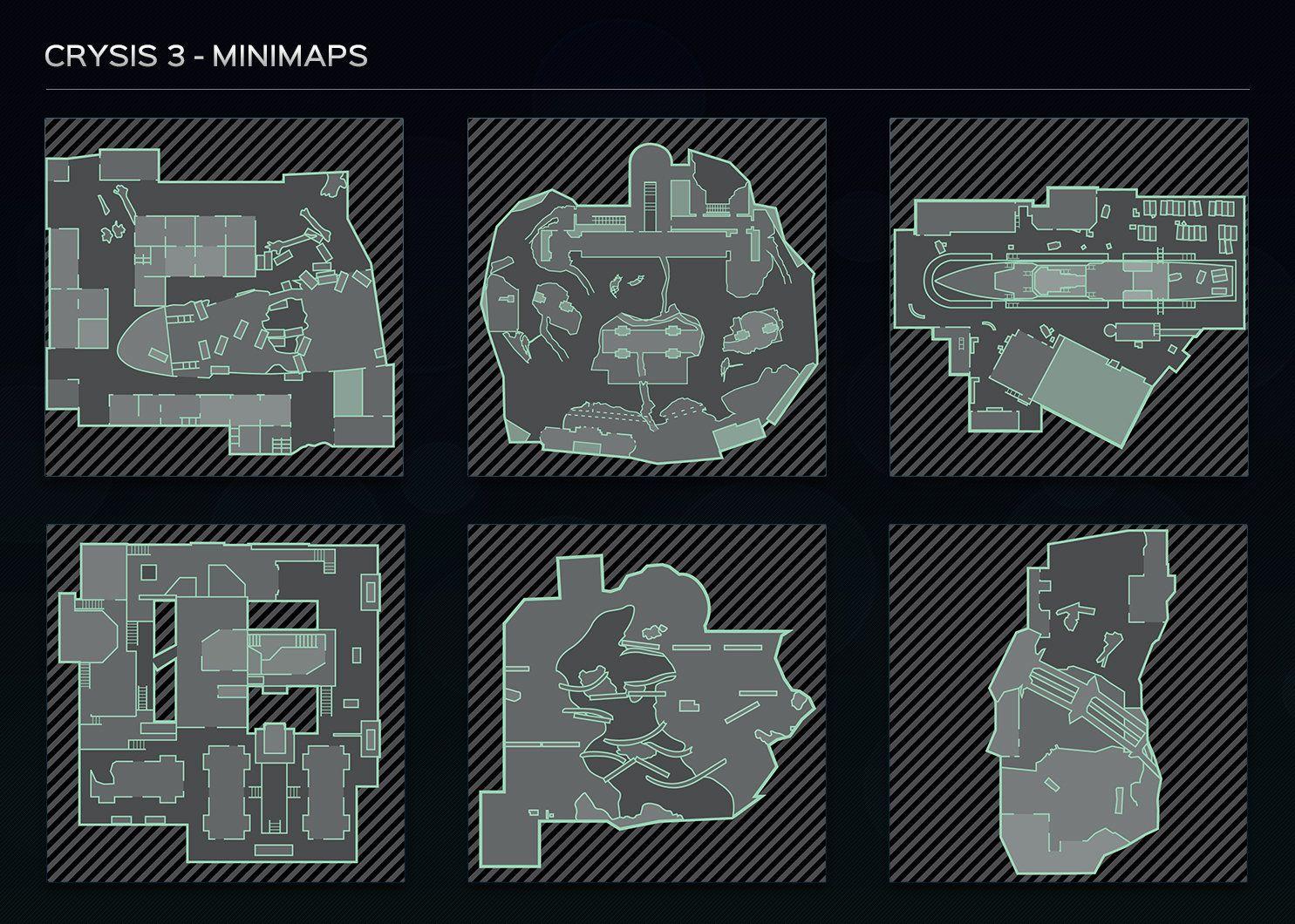 ArtStation Crysis 3 Minimaps, Gavin Bird Artwork