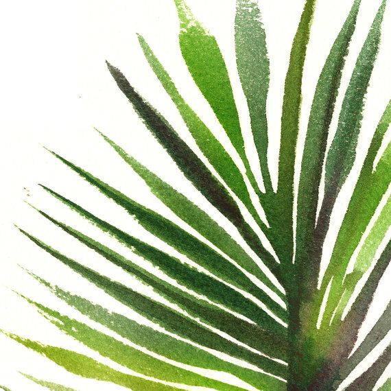 Banana Leaf Print Tropical Watercolor Print Banana Leaf Poster