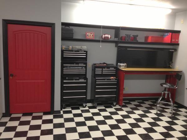 Black White Checkered Checkerboard Sheet Vinyl Flooring Great For Garage And Trailer Floors