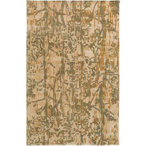 Zephyr Green and Brown Rectangular: 2 Ft. x 3 Ft. Area Rug
