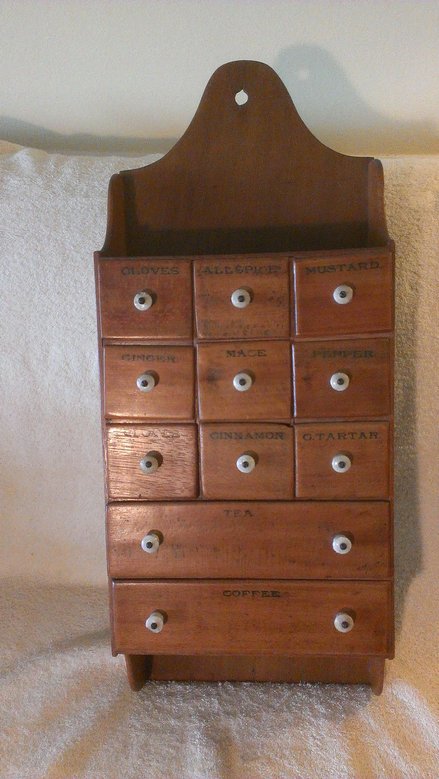 Antique Primitive 11 Drawer Hanging E Cabinet Ebay Sold 303 00 Country Furniture Distressed