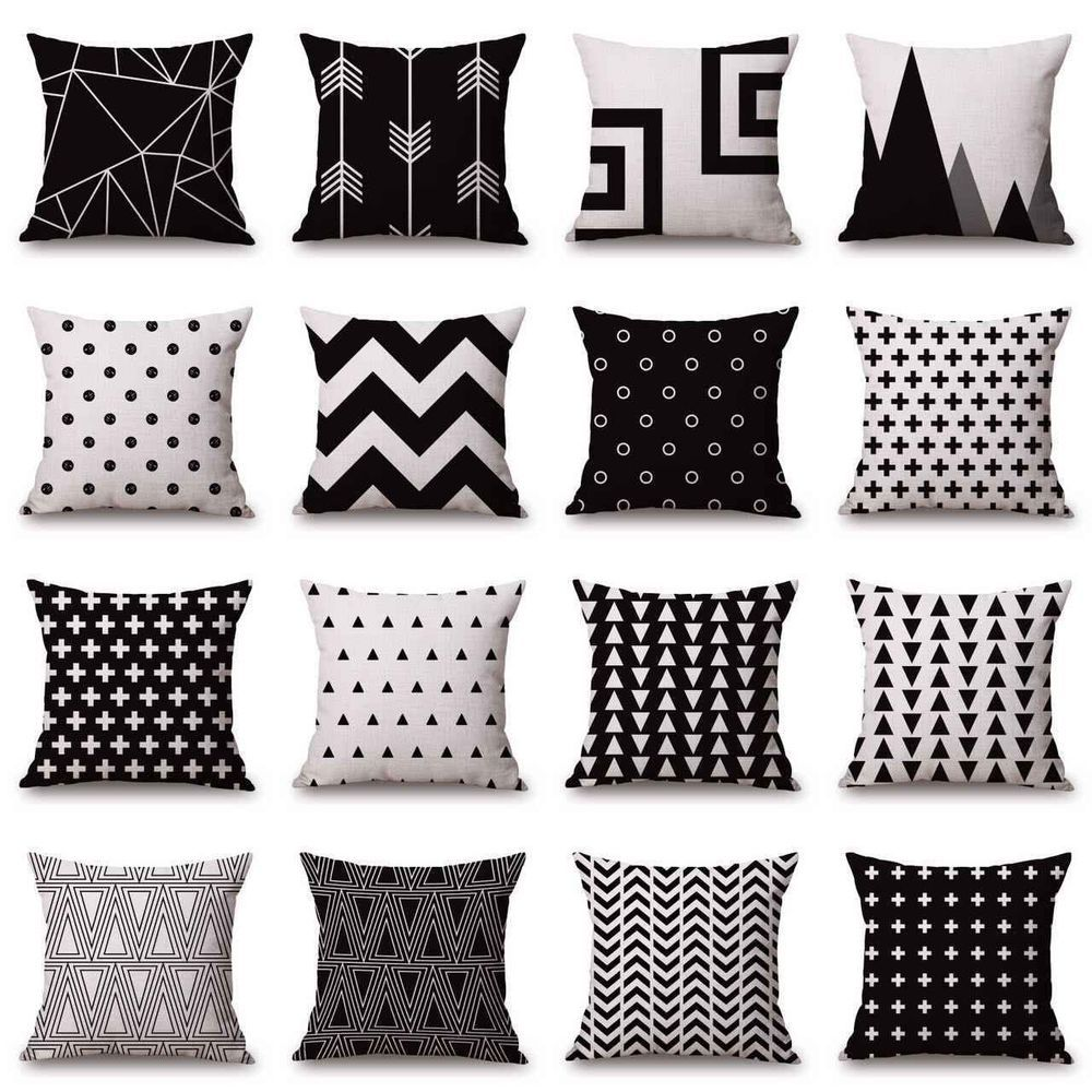 white sofa pillow case cotton linen