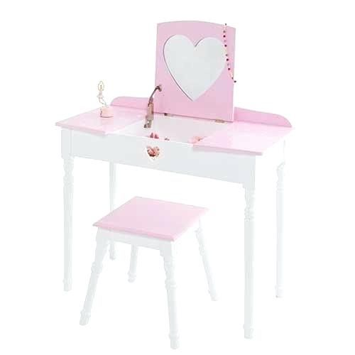 detailed look 4f0b0 dfec2 girls vanity table and stool brand new girls dressing table ...