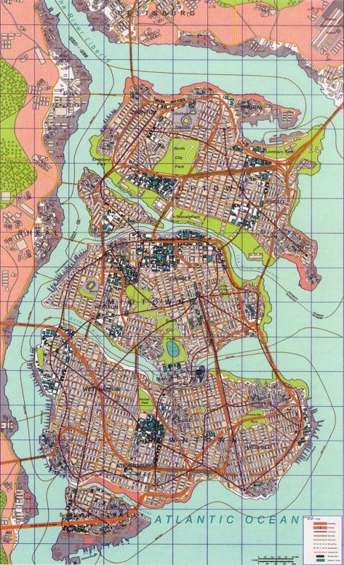 Batman Urbanism: Detailed Maps of Gotham City | maps | Gotham city ...